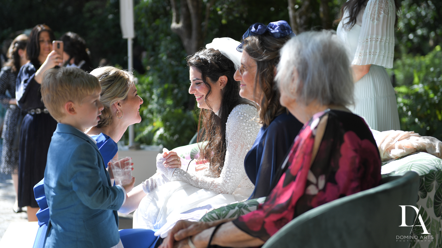 bedeken at Traditional Jewish Wedding at Deering Estate Miami by Domino Arts Photography