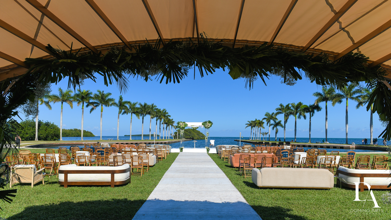 sunny venue at Traditional Jewish Wedding at Deering Estate Miami by Domino Arts Photography