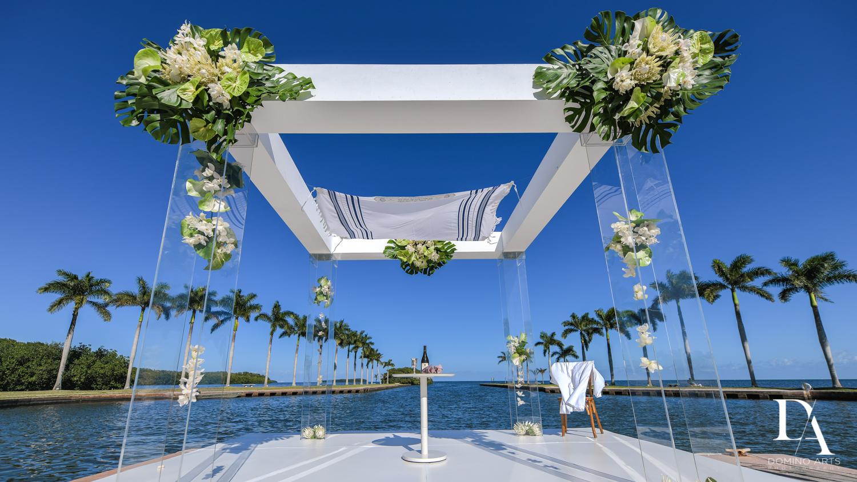 chuppah at Traditional Jewish Wedding at Deering Estate Miami by Domino Arts Photography