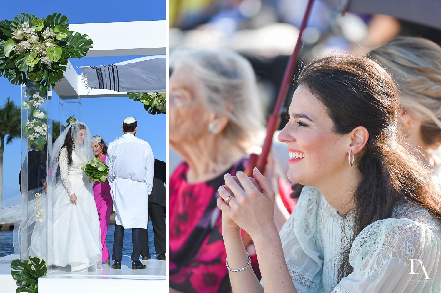 happy photos at Traditional Jewish Wedding at Deering Estate Miami by Domino Arts Photography