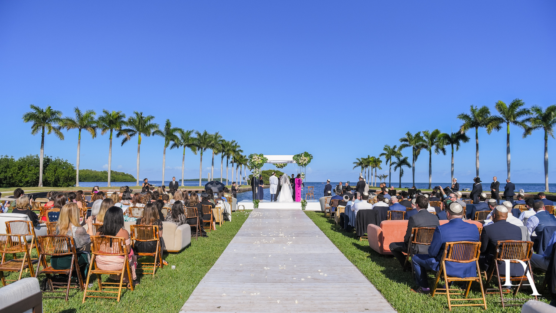 blue skies at Traditional Jewish Wedding at Deering Estate Miami by Domino Arts Photography
