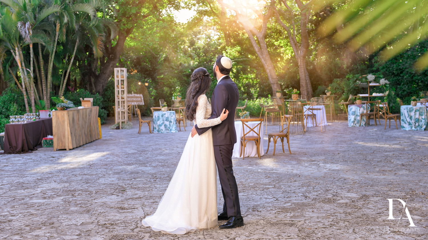 creative pictures at Traditional Jewish Wedding at Deering Estate Miami by Domino Arts Photography