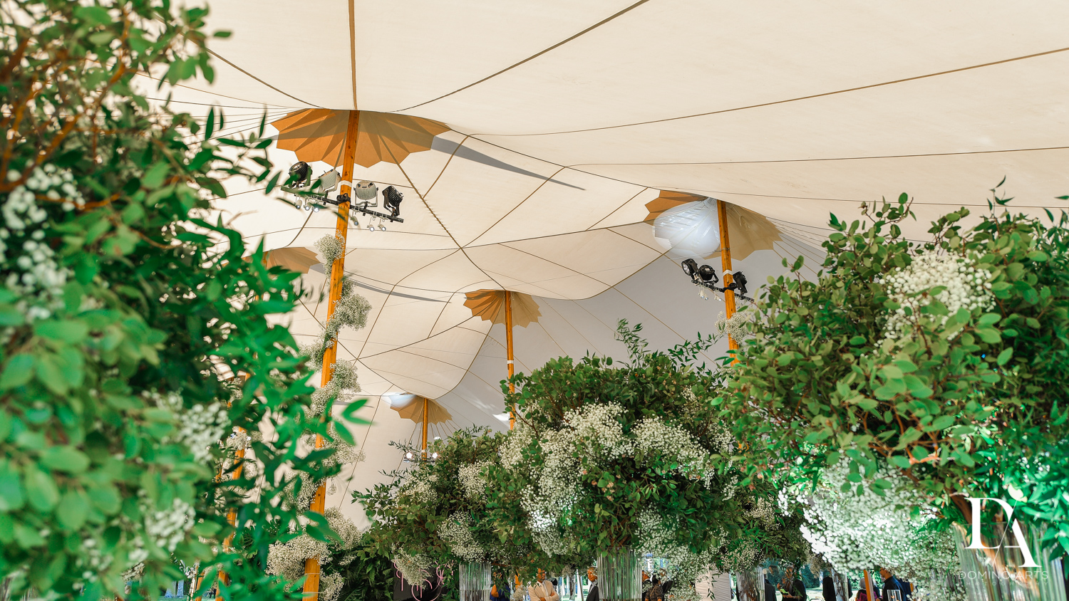 beautiful rental tents for Traditional Jewish Wedding at Deering Estate Miami by Domino Arts Photography