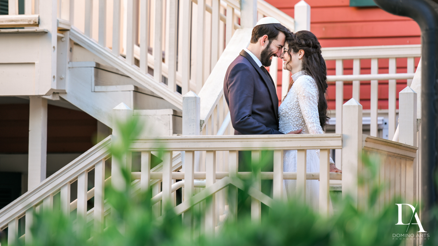 old florida house at Traditional Jewish Wedding at Deering Estate Miami by Domino Arts Photography