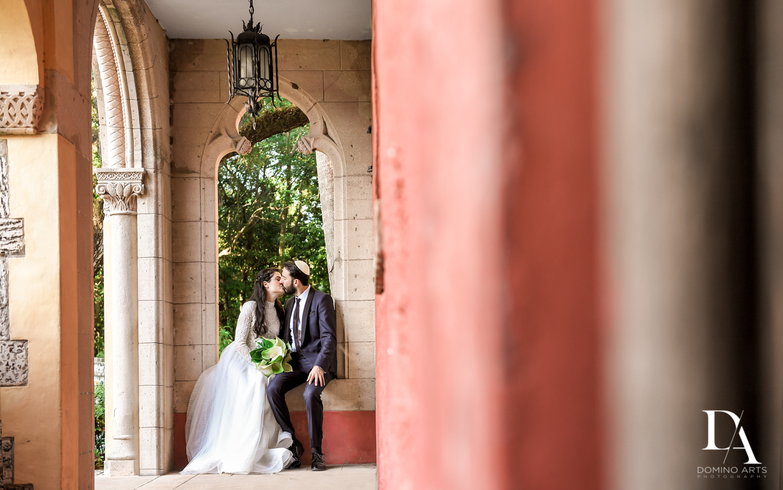 romantic pics at Traditional Jewish Wedding at Deering Estate Miami by Domino Arts Photography