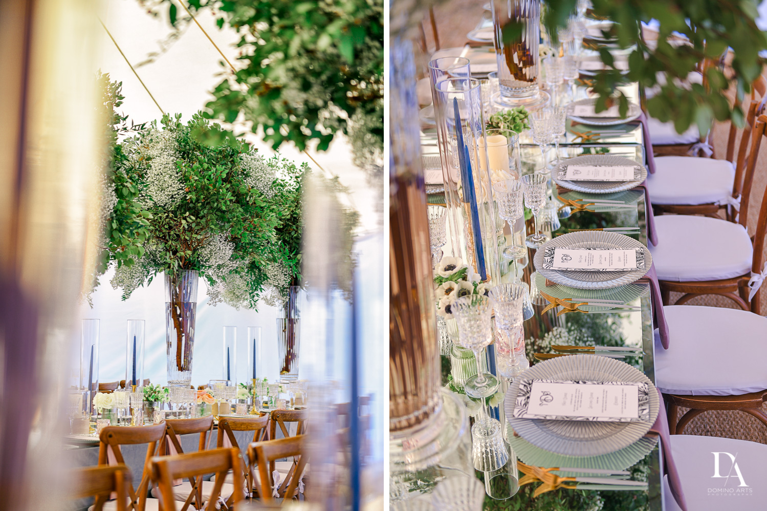 elegant details at Traditional Jewish Wedding at Deering Estate Miami by Domino Arts Photography