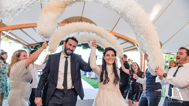 florida wedding shtick rental at Traditional Jewish Wedding at Deering Estate Miami by Domino Arts Photography