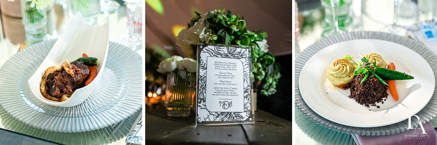 place settings at Traditional Jewish Wedding at Deering Estate Miami by Domino Arts Photography