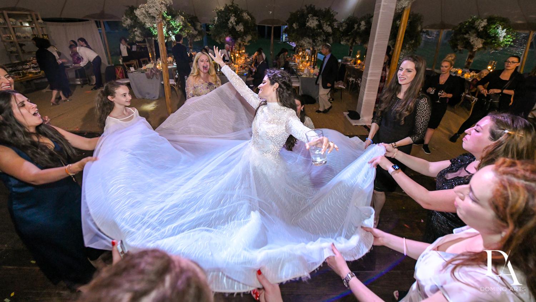 bride dress at Traditional Jewish Wedding at Deering Estate Miami by Domino Arts Photography
