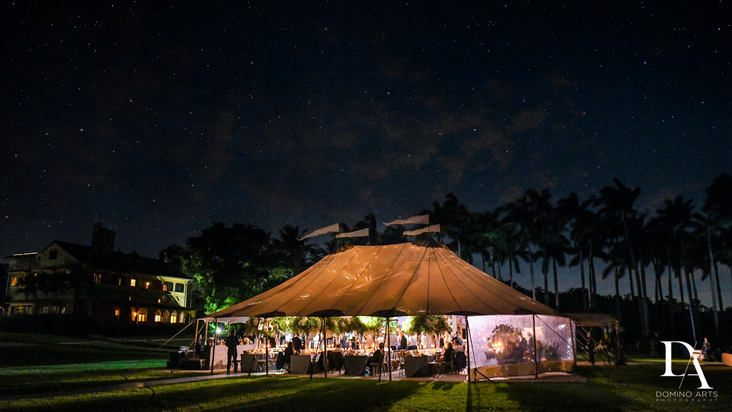 sperry tent rental for Traditional Jewish Wedding at Deering Estate Miami by Domino Arts Photography