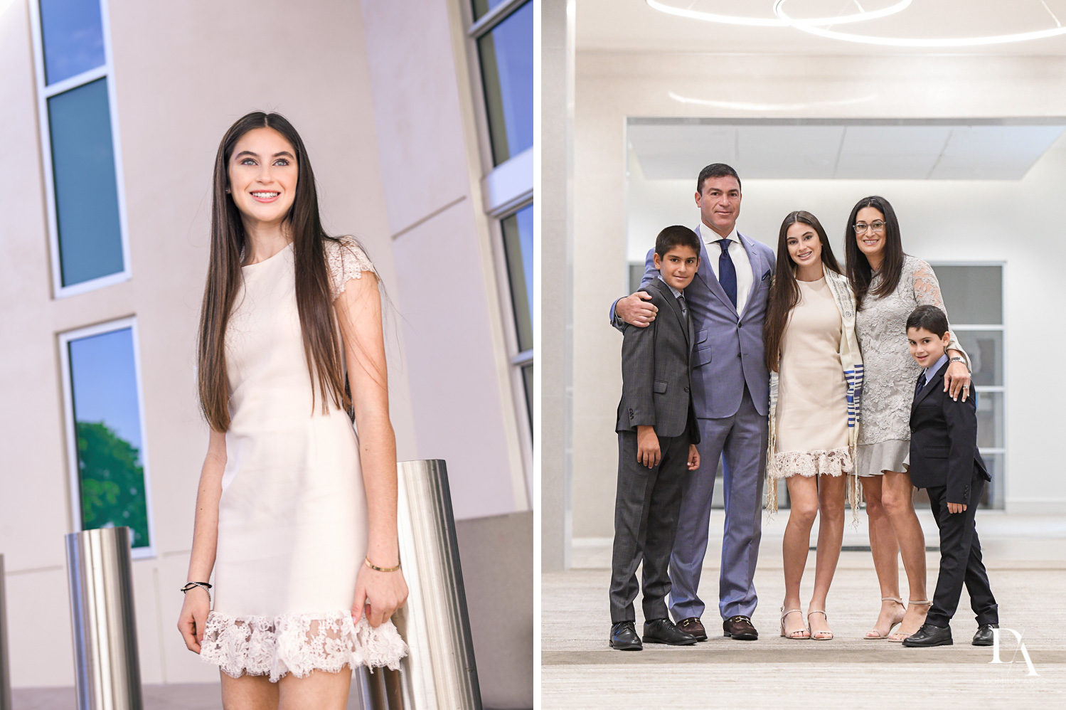 classic family portraits for bat mitzvah