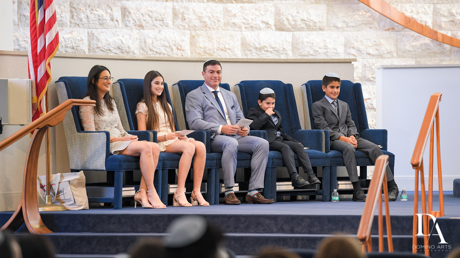 family at Traditional Jewish Bat Mitzvah at Temple Beth El by Domino Arts Photography