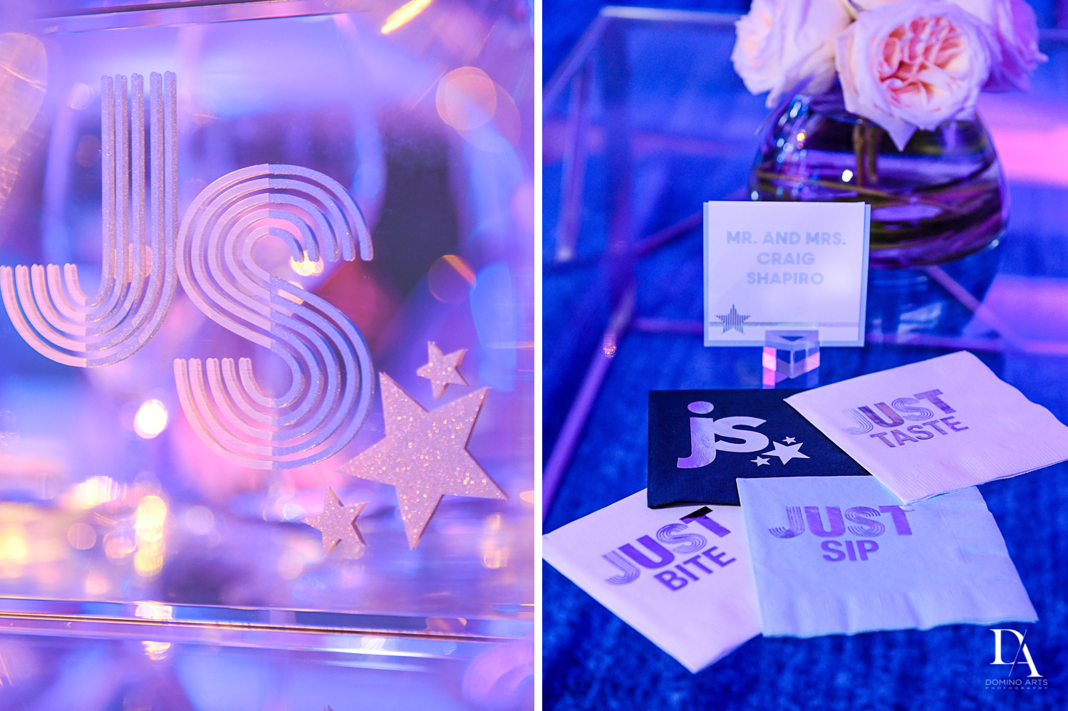 custom invitations for Trendy Decor Bat Mitzvah at St Andrews Country Club by Domino Arts Photography