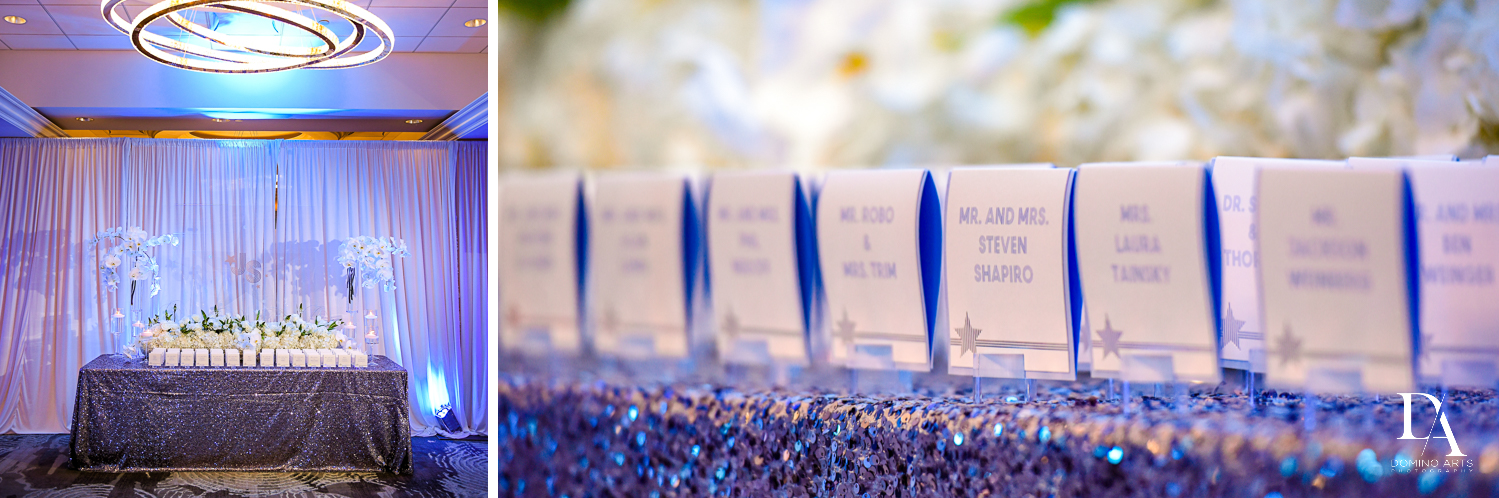 placecards for Trendy Decor Bat Mitzvah at St Andrews Country Club by Domino Arts Photography