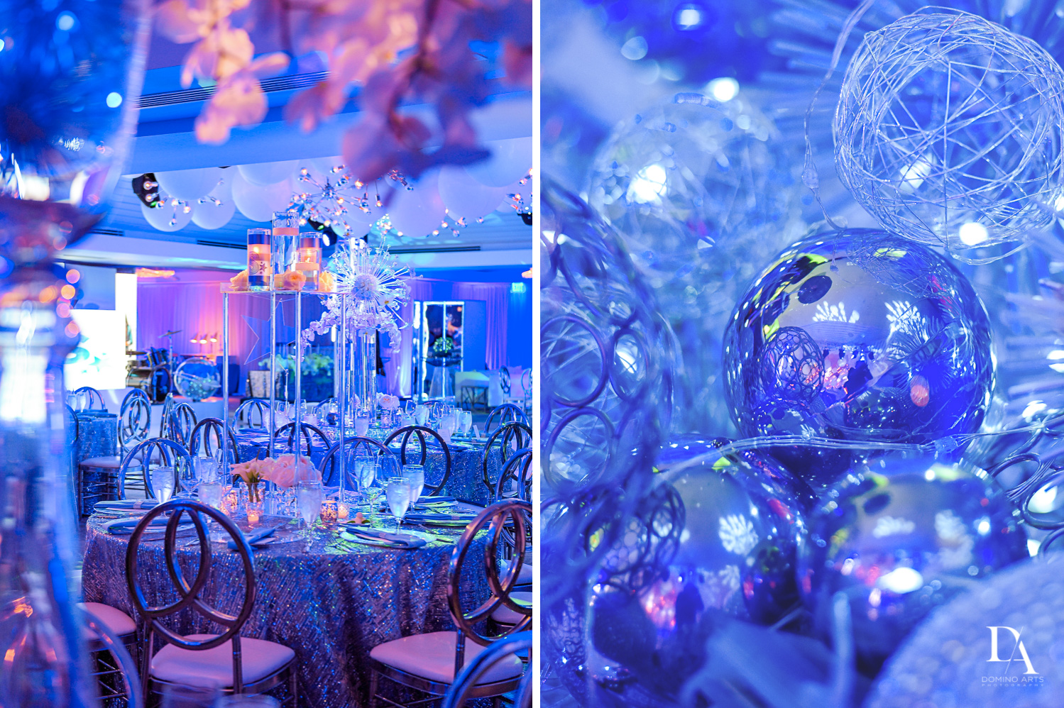 Creative Touch Party Design at Trendy Decor Bat Mitzvah at St Andrews Country Club by Domino Arts Photography
