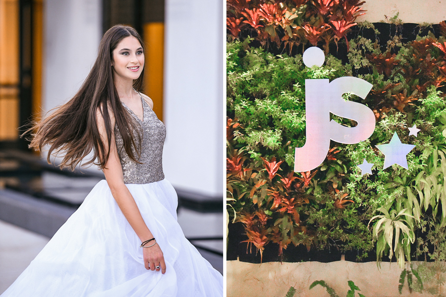 custom name sign for Trendy Decor Bat Mitzvah at St Andrews Country Club by Domino Arts Photography