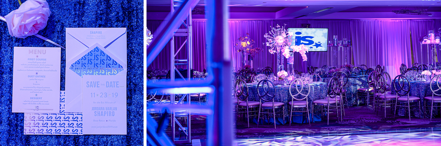 creative images at Trendy Decor Bat Mitzvah at St Andrews Country Club by Domino Arts Photography