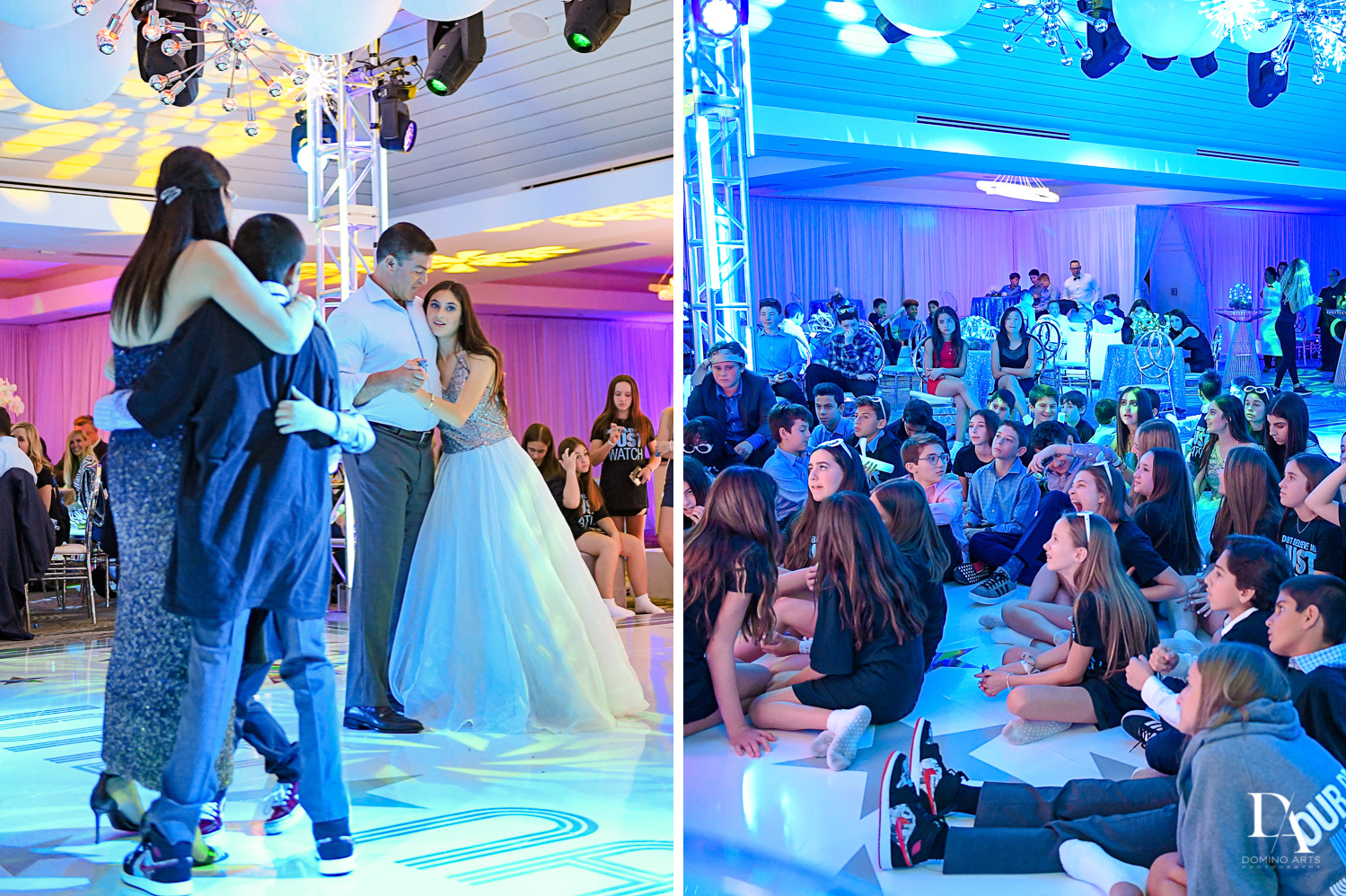 parent dance and slideshow at Trendy Decor Bat Mitzvah at St Andrews Country Club by Domino Arts Photography