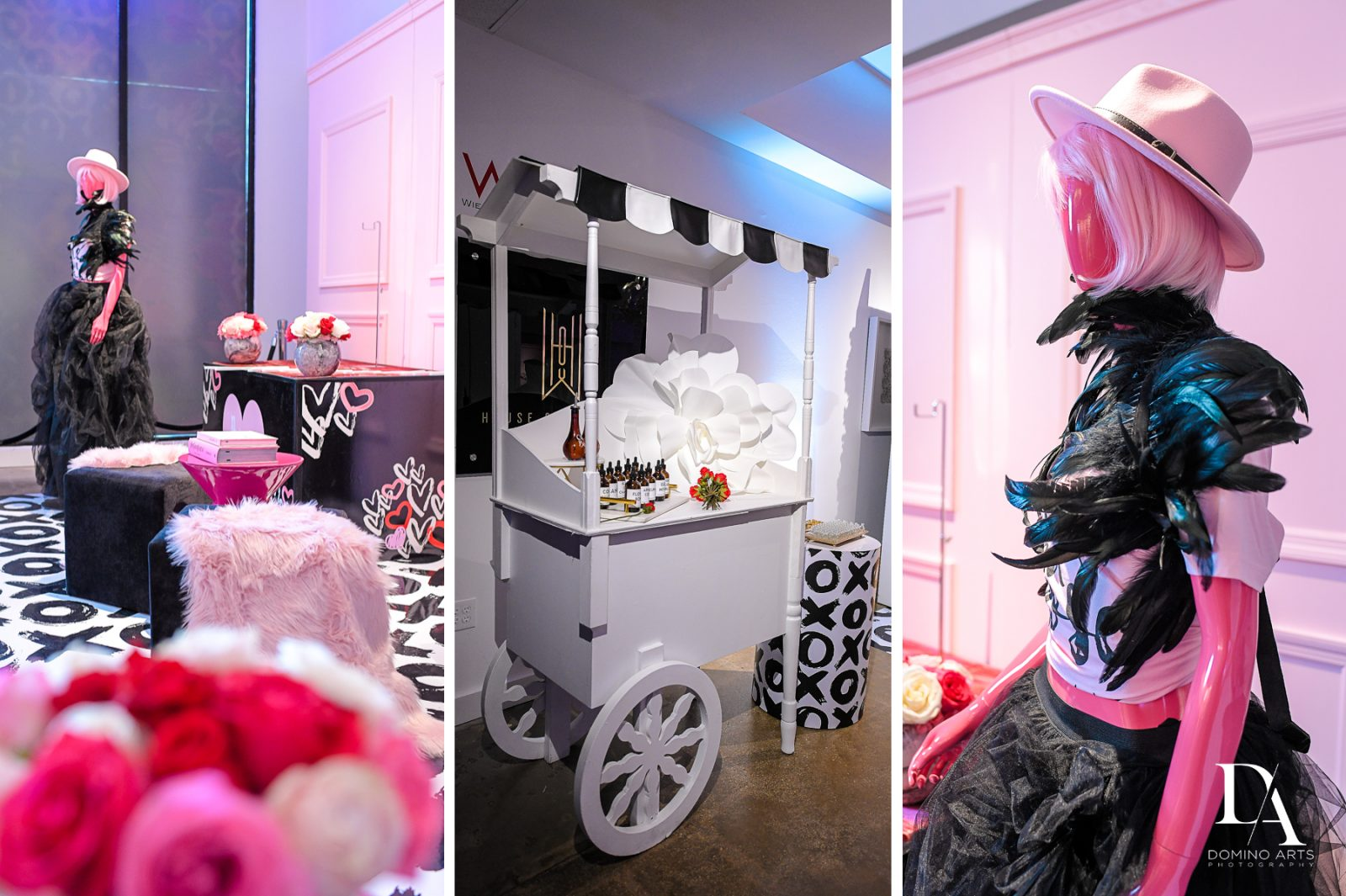 Design Plan Play at Fashion Theme Bat Mitzvah at Gallery of Amazing Things by Domino Arts Photography