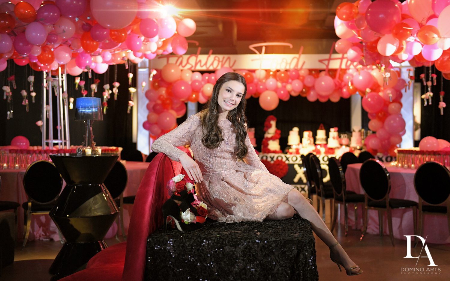 balloons at Fashion Theme Bat Mitzvah at Gallery of Amazing Things by Domino Arts Photography