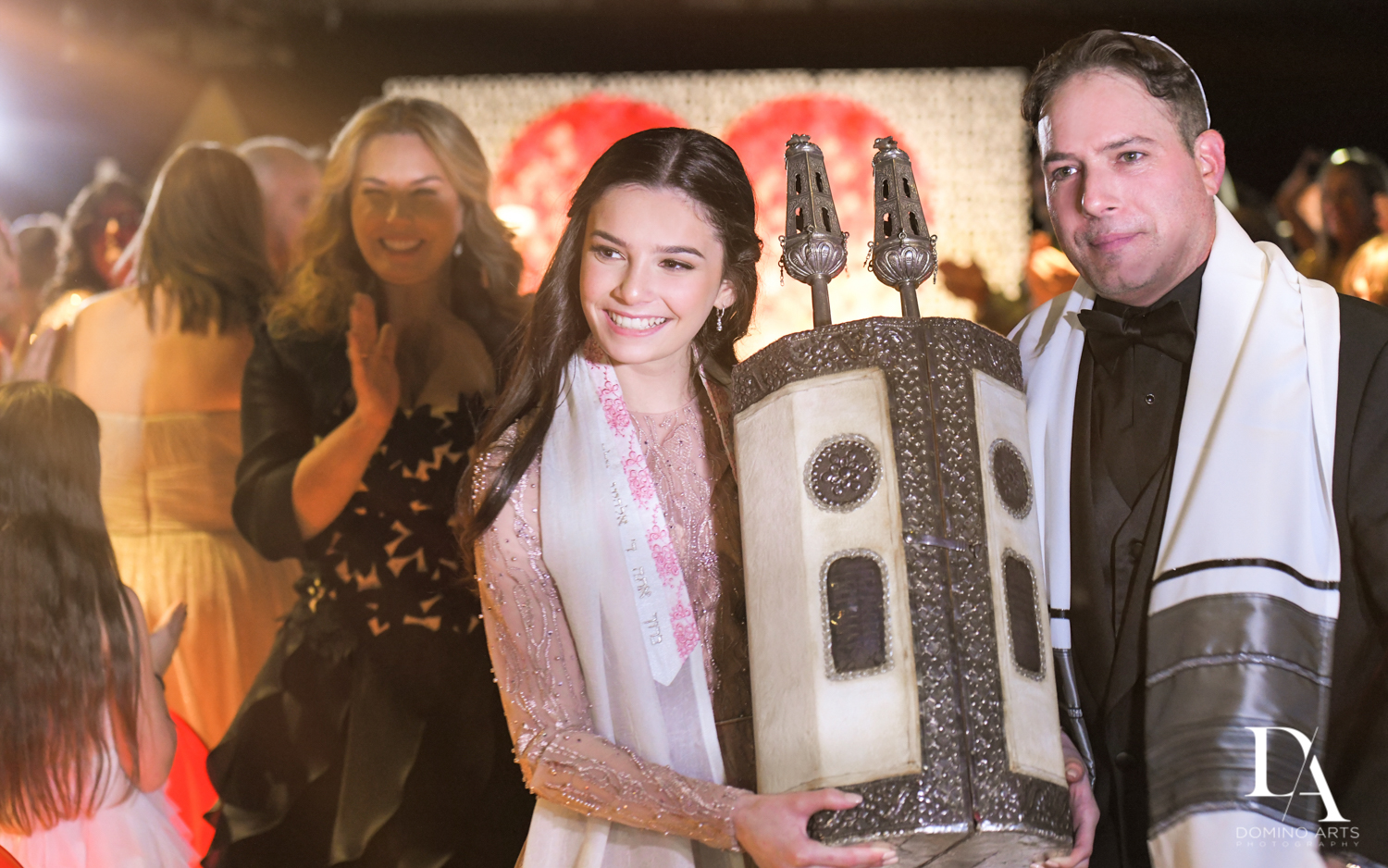 jewish traditions at Fashion Theme Bat Mitzvah at Gallery of Amazing Things by Domino Arts Photography