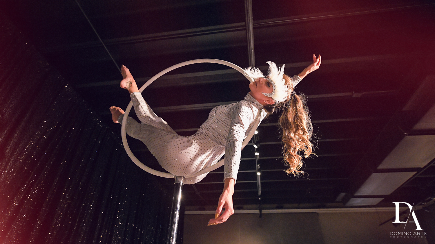 aerialists at Fashion Theme Bat Mitzvah at Gallery of Amazing Things by Domino Arts Photography