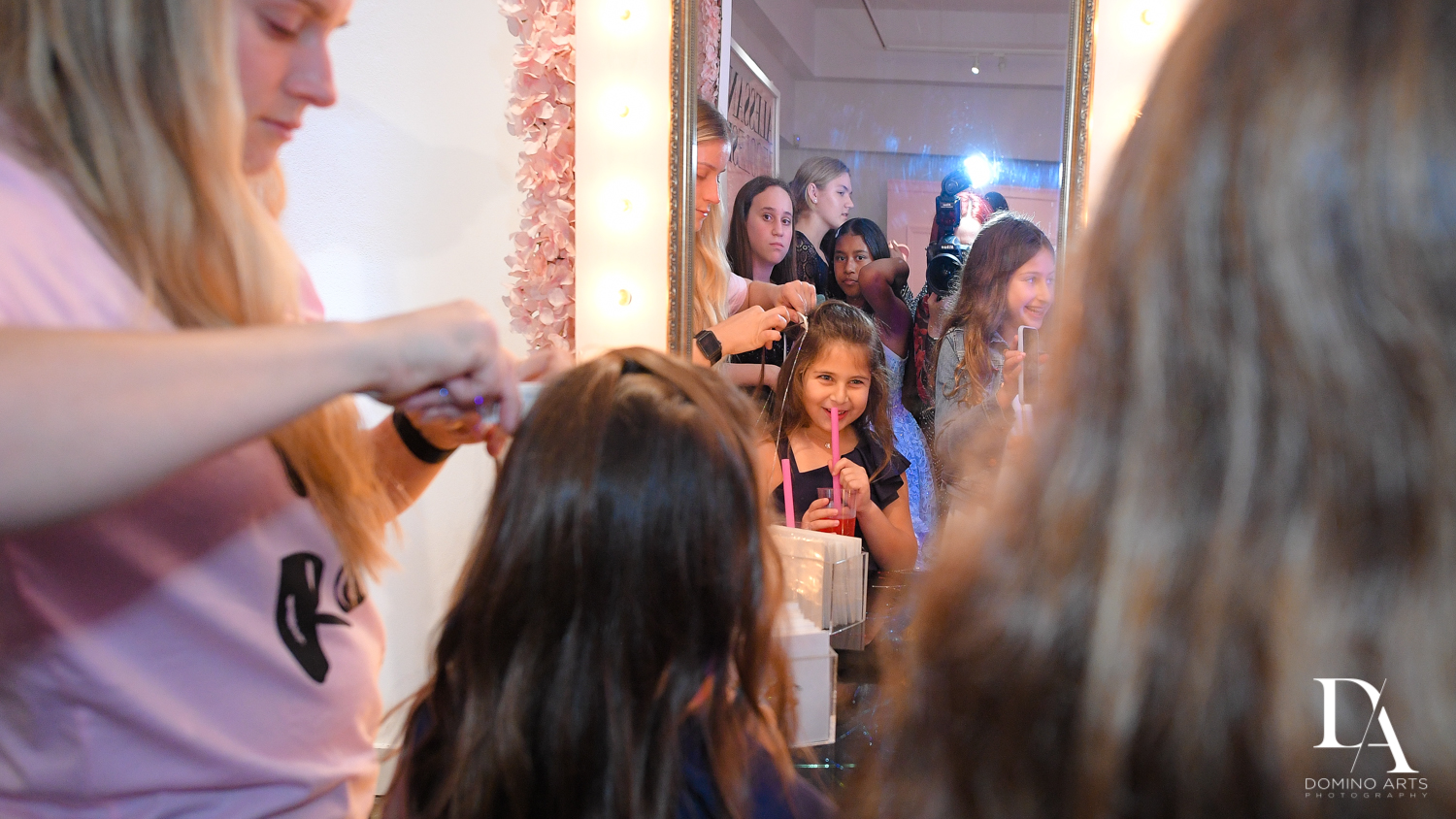 fun at Fashion Theme Bat Mitzvah at Gallery of Amazing Things by Domino Arts Photography
