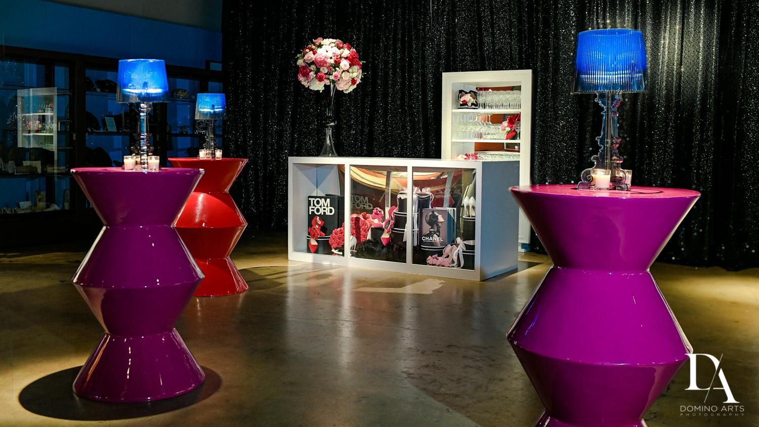 amazing decor at Fashion Theme Bat Mitzvah at Gallery of Amazing Things by Domino Arts Photography