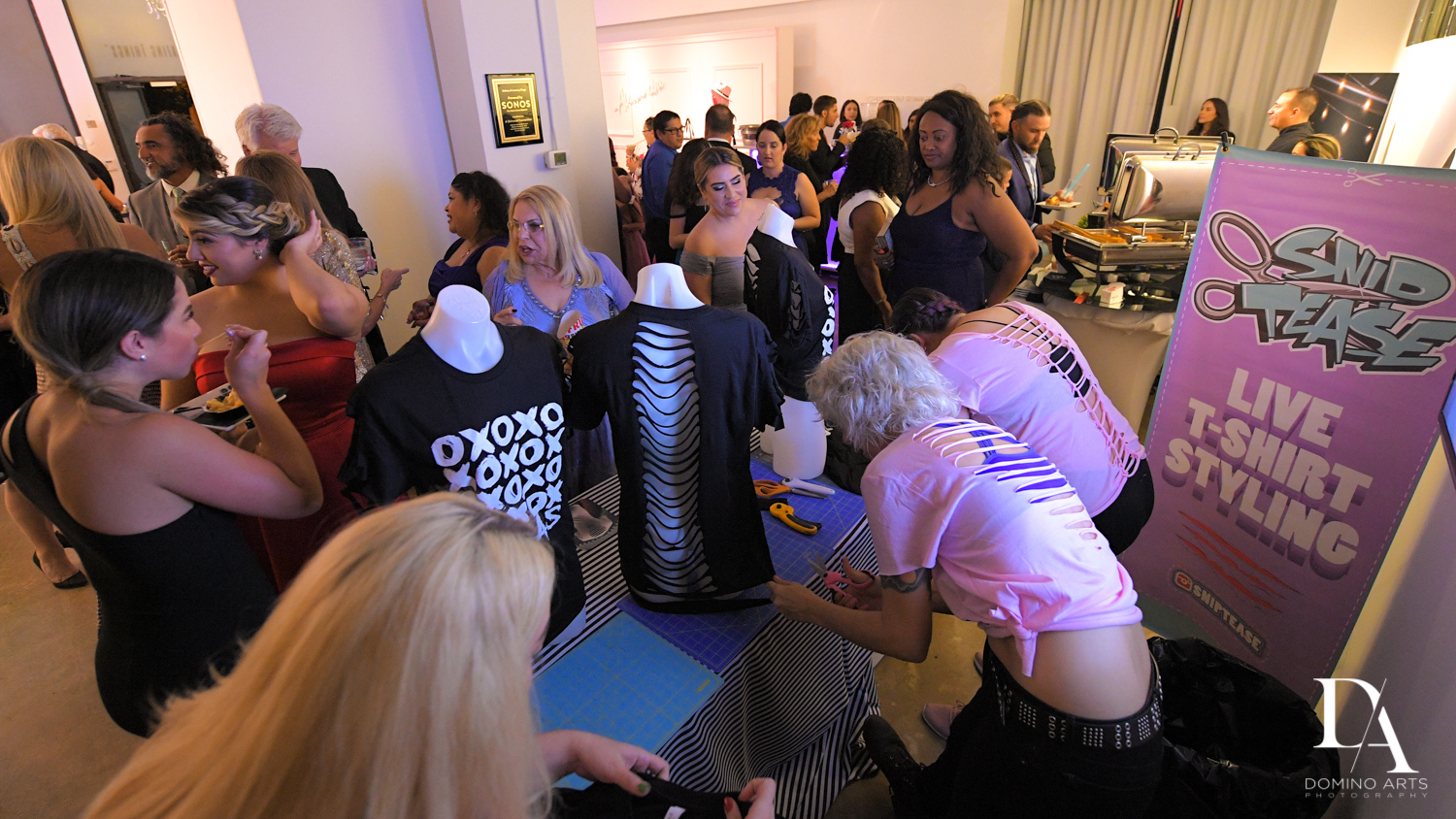 snip tease shirts at Fashion Theme Bat Mitzvah at Gallery of Amazing Things by Domino Arts Photography