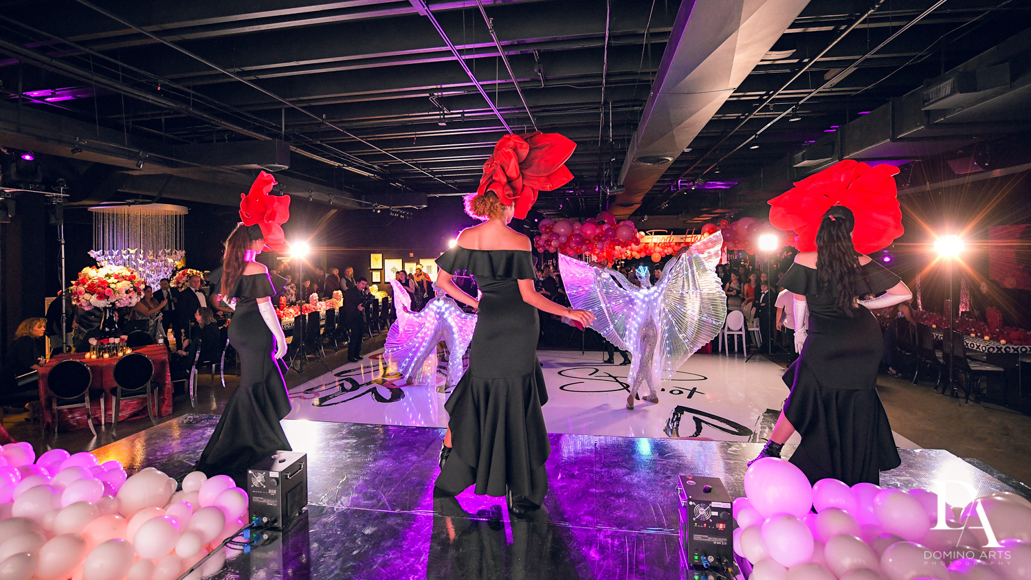 dancers at Fashion Theme Bat Mitzvah at Gallery of Amazing Things by Domino Arts Photography