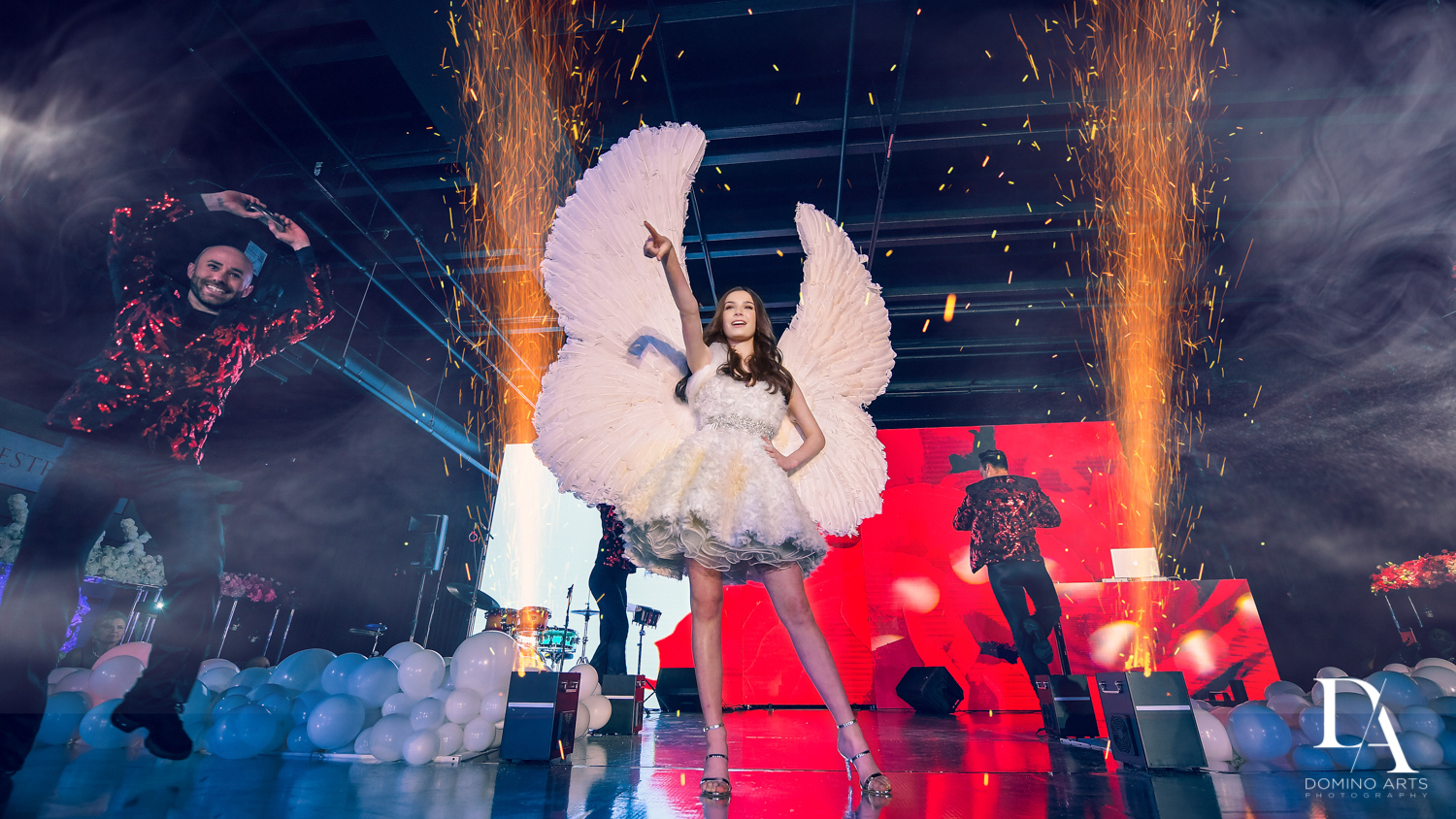 grand entrance at Fashion Theme Bat Mitzvah at Gallery of Amazing Things by Domino Arts Photography