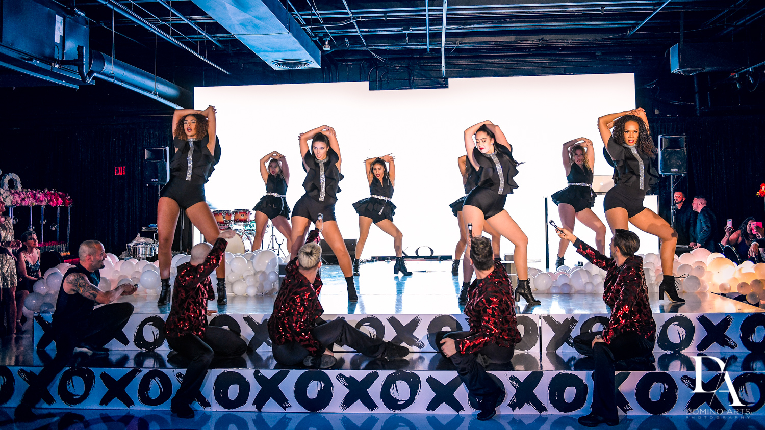 performers at Fashion Theme Bat Mitzvah at Gallery of Amazing Things by Domino Arts Photography