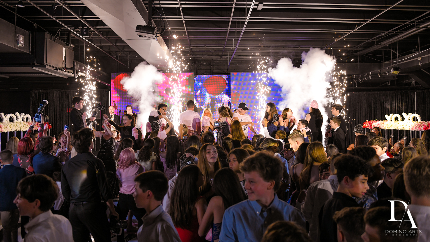 crazy fun party at Fashion Theme Bat Mitzvah at Gallery of Amazing Things by Domino Arts Photography