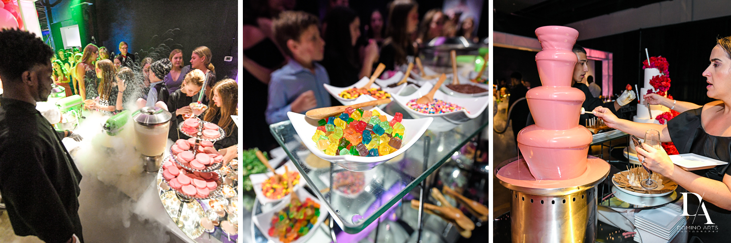 artisan best catering at Fashion Theme Bat Mitzvah at Gallery of Amazing Things by Domino Arts Photography