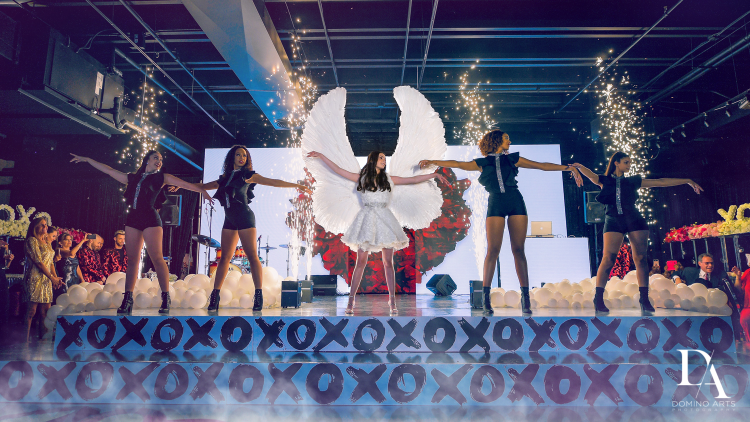 angel wings at Fashion Theme Bat Mitzvah at Gallery of Amazing Things by Domino Arts Photography