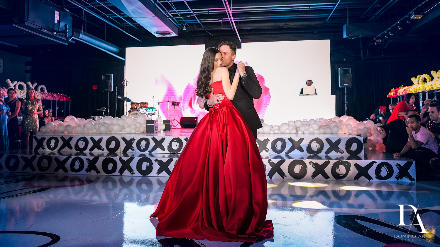 parent dance at Fashion Theme Bat Mitzvah at Gallery of Amazing Things by Domino Arts Photography