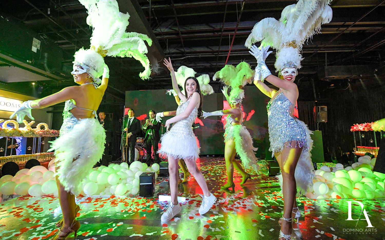 performace at Fashion Theme Bat Mitzvah at Gallery of Amazing Things by Domino Arts Photography