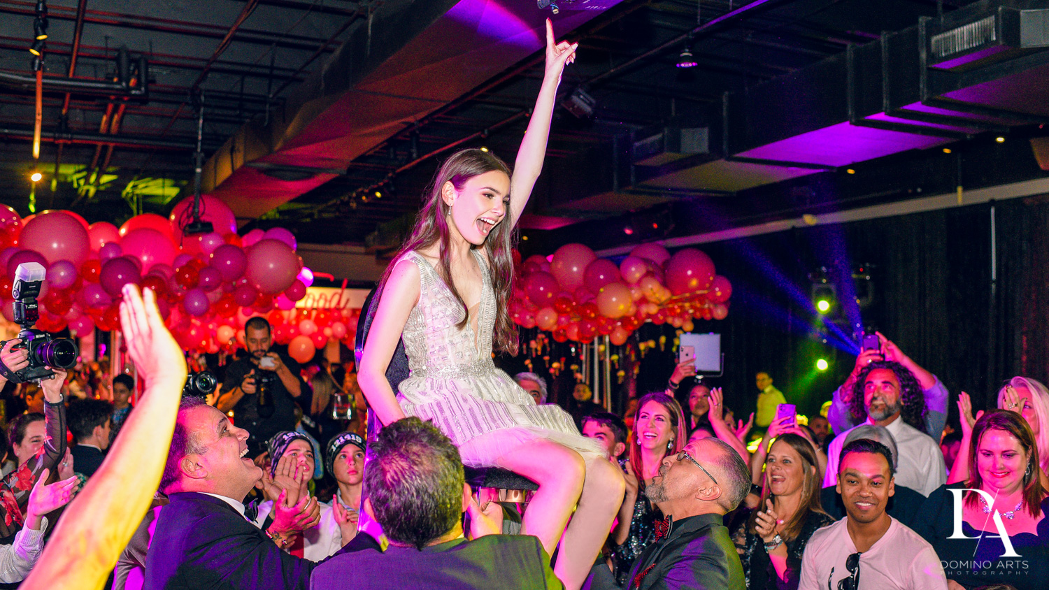 hora at Fashion Theme Bat Mitzvah at Gallery of Amazing Things by Domino Arts Photography