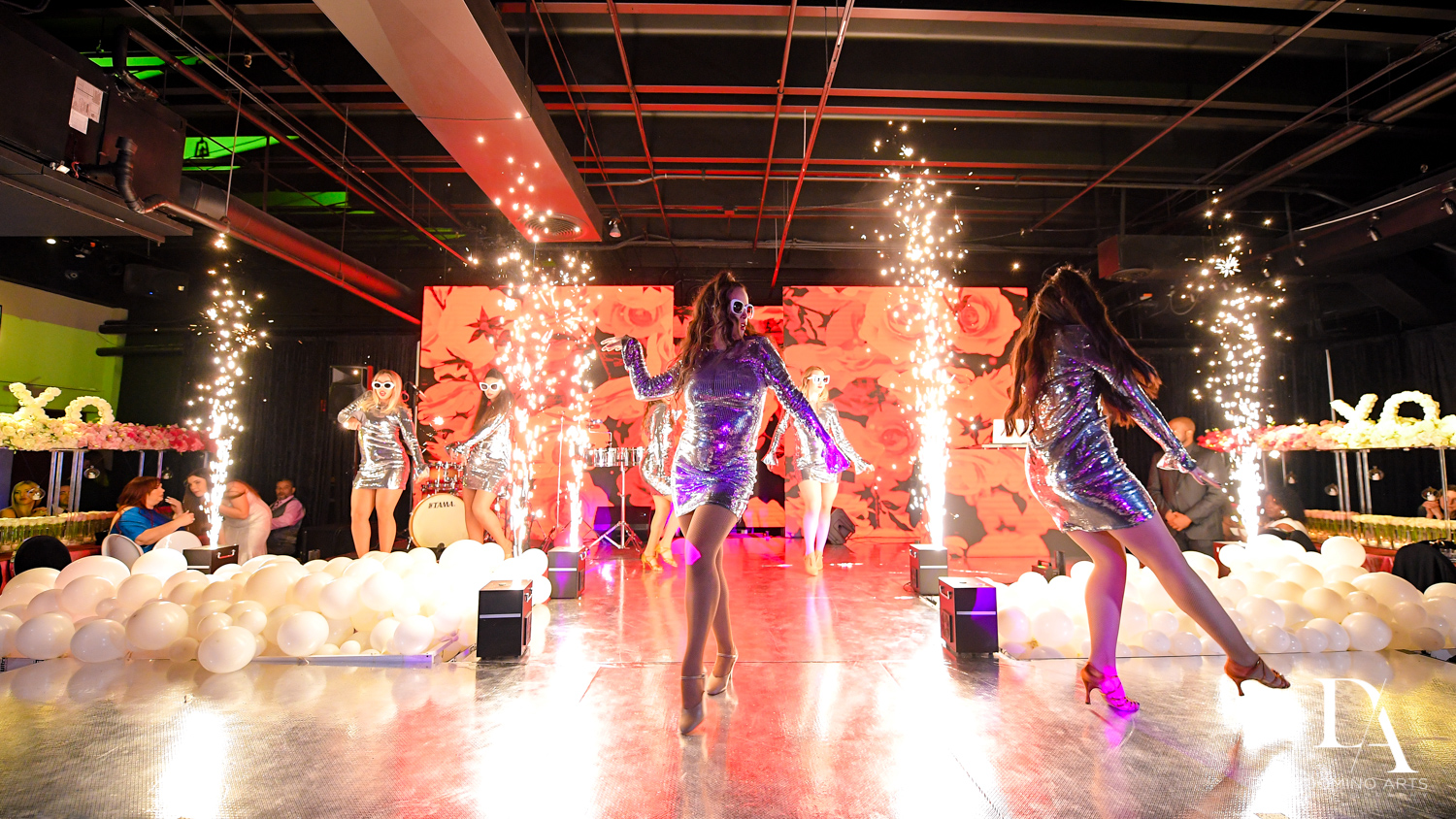fireworks at Fashion Theme Bat Mitzvah at Gallery of Amazing Things by Domino Arts Photography