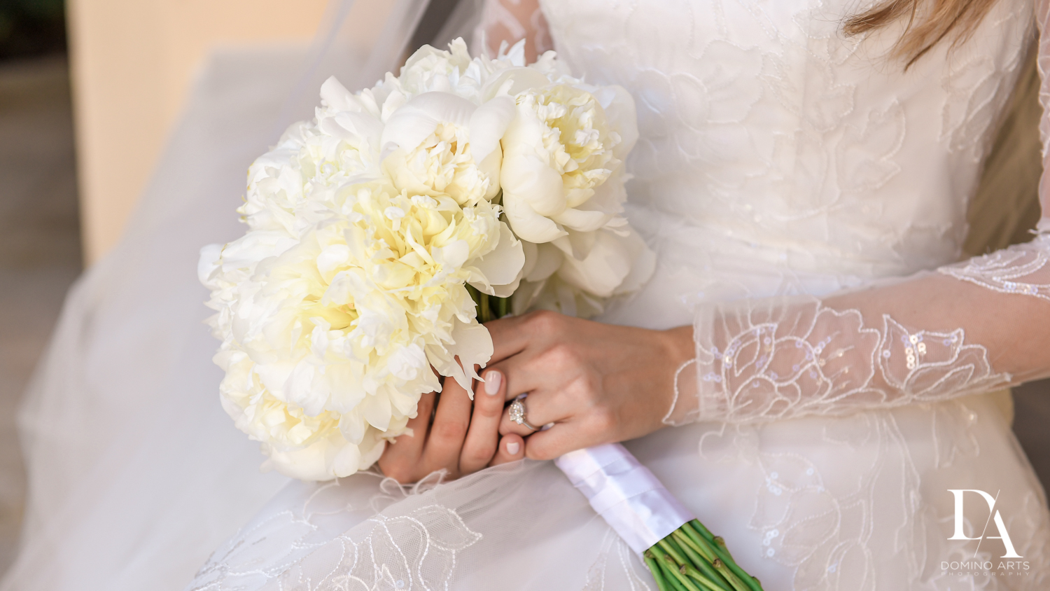 white wedding flowers bouquet by domino arts photography