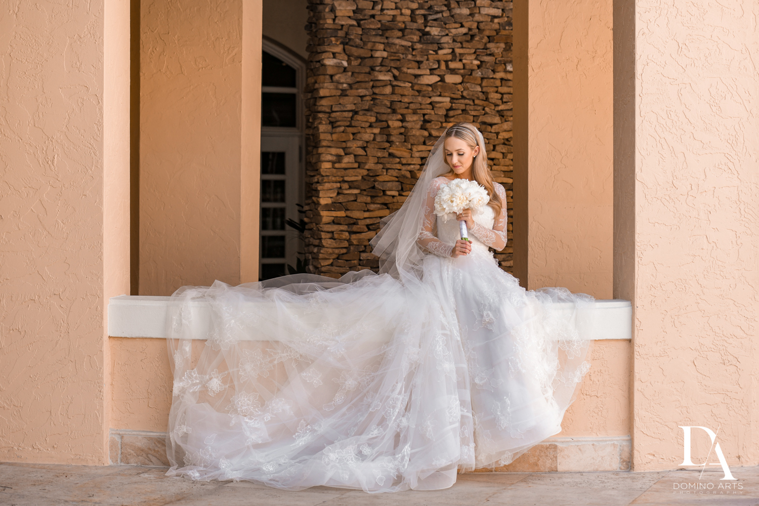 perfect bride at aventura turnberry wedding by domino arts