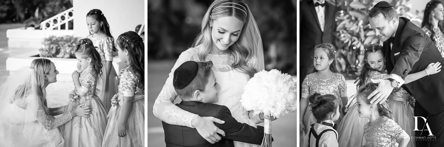 B&W photojournalism wedding photos by domino arts