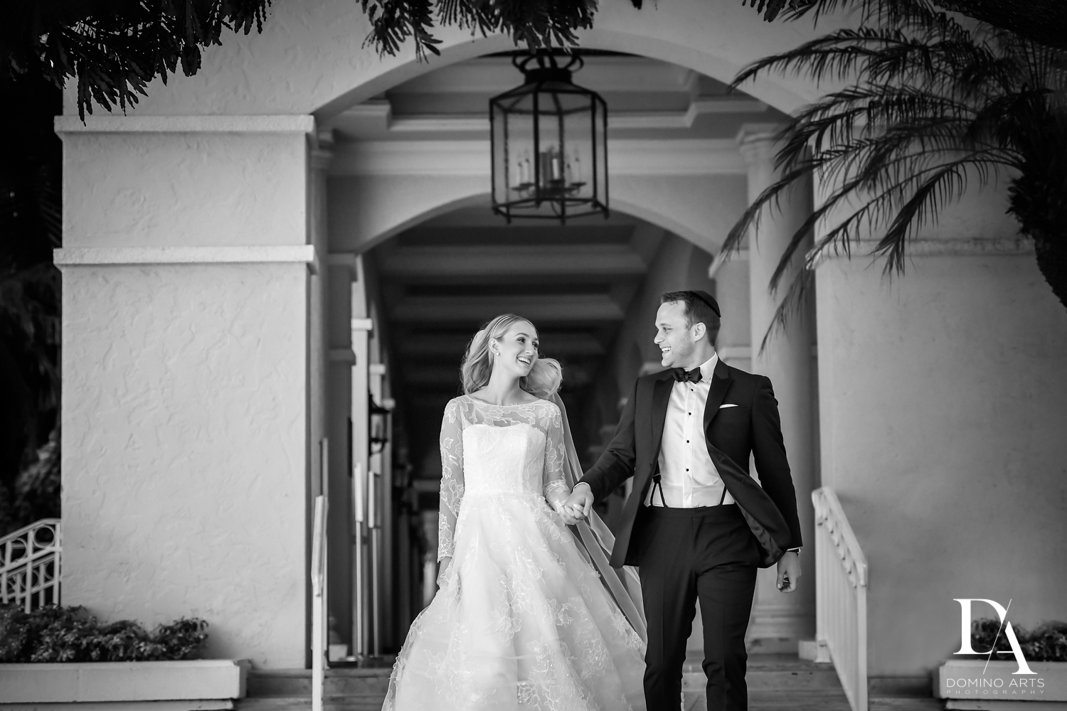 fun B&W wedding photos by domino arts