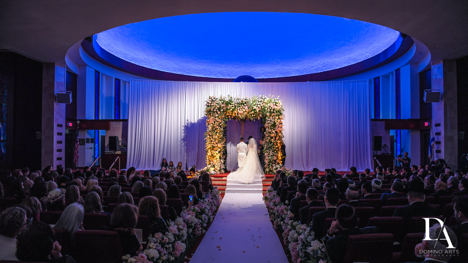 best wedding venue Aventura Turnberry Jewish Center by Domino Arts Photography