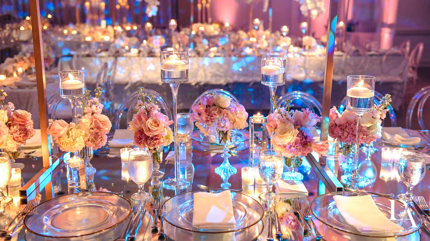 unique ideas for Lavish Flowers & Crystals Wedding at Aventura Turnberry Jewish Center by Domino Arts Photography