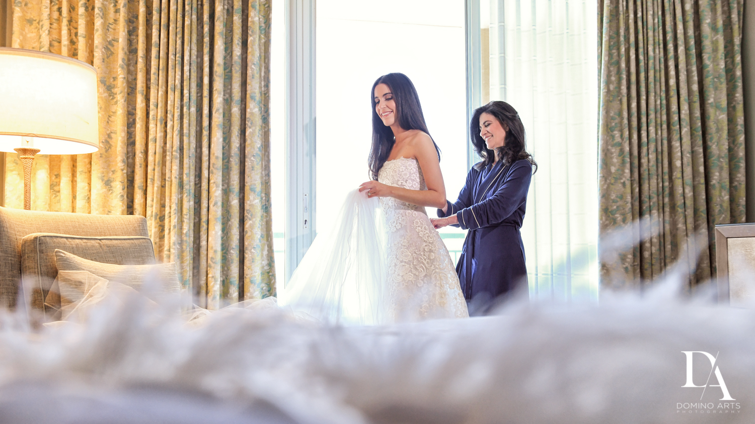 mother of the bride at A Ritz Carlton Wedding in Key Biscayne by Domino Arts Photography