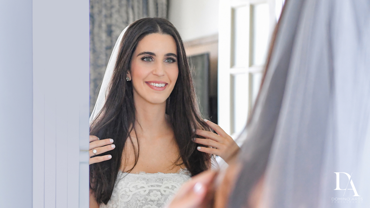 beautiful bride at A Ritz Carlton Wedding in Key Biscayne by Domino Arts Photography