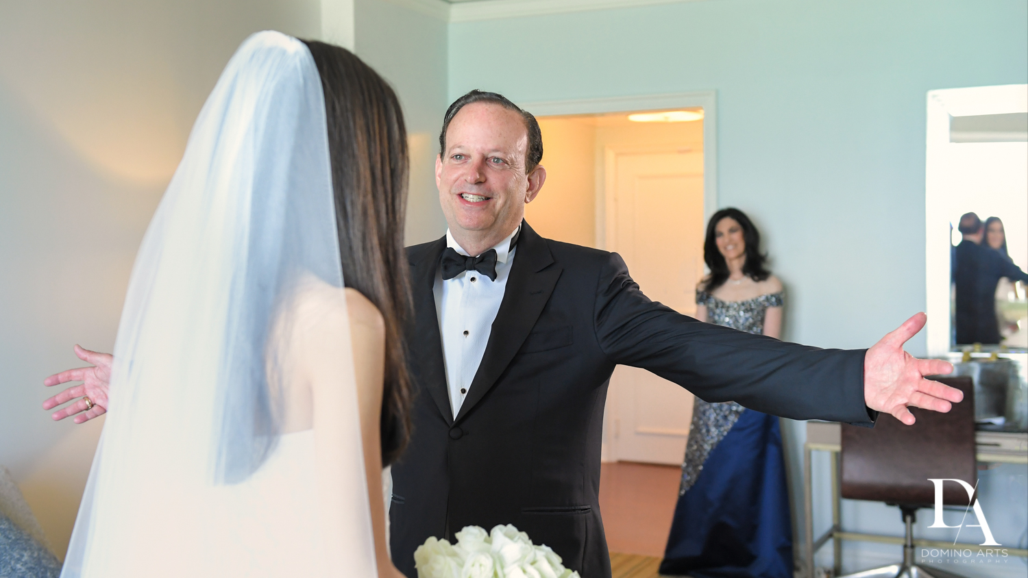 father of the bride at A Ritz Carlton Wedding in Key Biscayne by Domino Arts Photography
