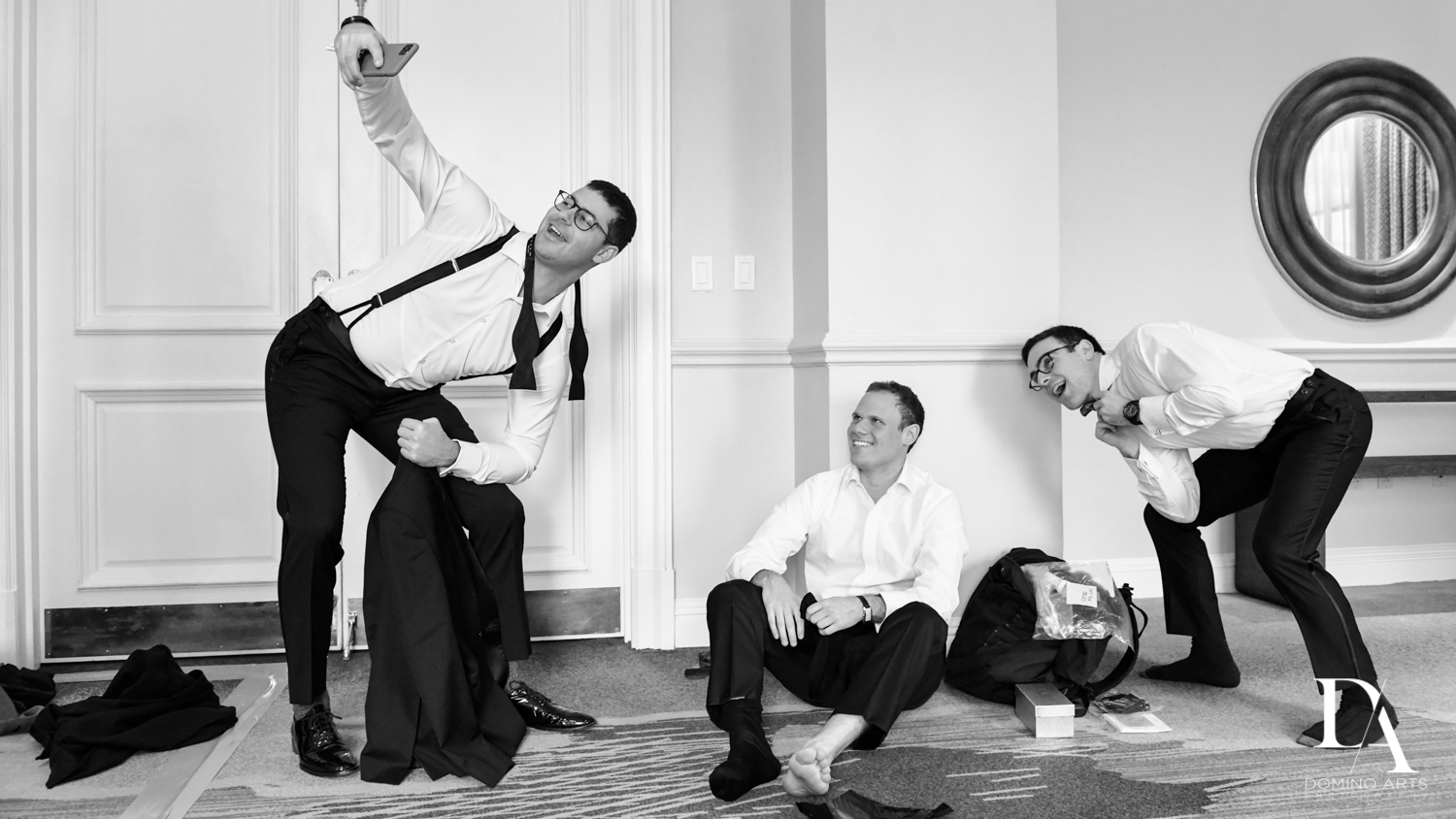 B&W photo journalism at A Ritz Carlton Wedding in Key Biscayne by Domino Arts Photography