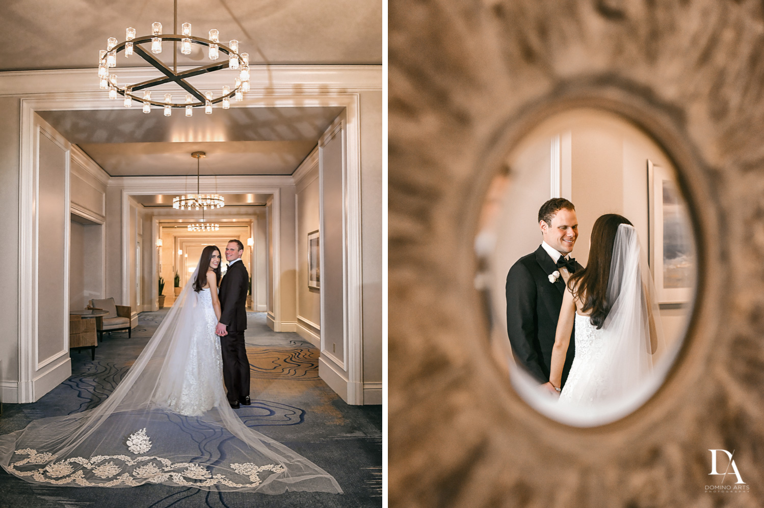 portraits at A Ritz Carlton Wedding in Key Biscayne by Domino Arts Photography